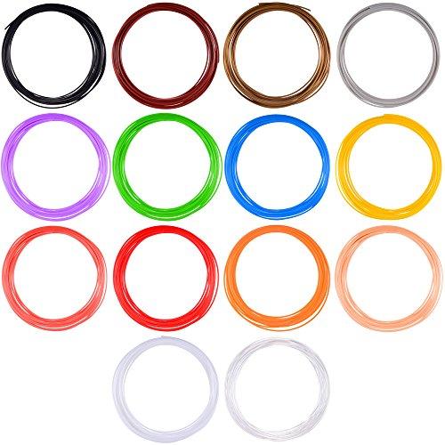 Anpro Filament 85.4 Laufmeter 3D Druckmaterialien, 1.75mm ABS in 14 Farben zu je 6.1m Länge für 3D Stift 3D Pen - 3