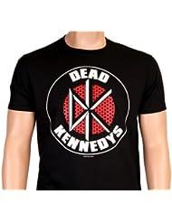 THE DEAD KENNEDYS - SCHWARZ - DK LOGO WALL BRICK - Punk - T-shirt - S M L XL XXL