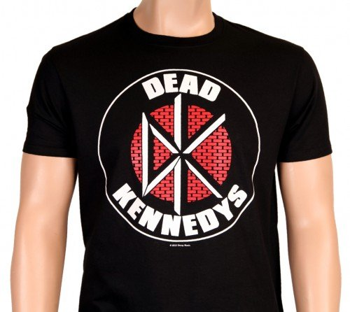 The Dead Kennedys-Nero-DK Logo Wall Brick-Punk-T-shirt-S M L XL XXL, nero, S