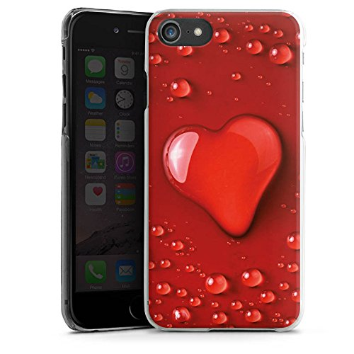 Apple iPhone X Silikon Hülle Case Schutzhülle Liebe Wasser Tropfen Herz Muster Hard Case transparent