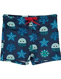 MAXOMORRA Jungen Badehose Blau Deep Sea Tiefsee UV-Schutz