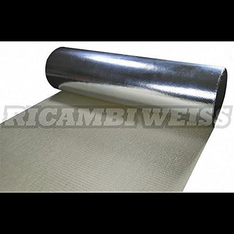 Calore protezione adesiva Ricambi Bianco Protezione Calore Matte 550° 49cm x 49cm 0,8mm auto