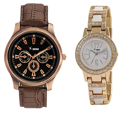Xeno ZD000306-242 Mix N Match Analog Watch For Couple