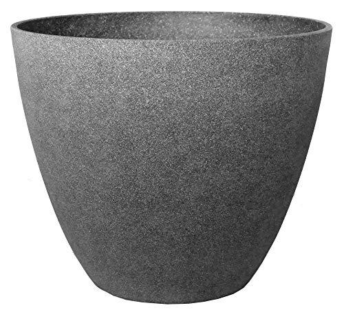 �bel groß Ø 44 Höhe 37 cm Kunststoff Topf Steinoptik graphti-grau ()