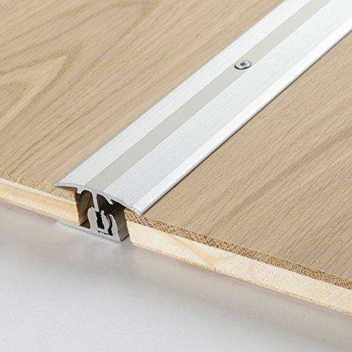 Parador Boden-Profile Übergangsprofil Aluminium Silber für Parkett Bodenbeläge 8-18 mm