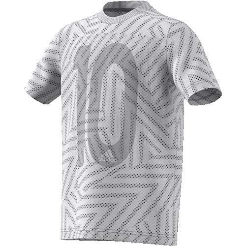 adidas Jungen Messi Icon Jersey Trikot, Mehrfarbig (Grey one f17), S - Messi Trikot Jungen