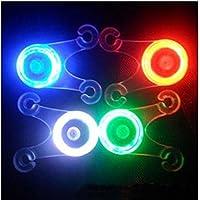 Bazaar Radradkissen weiches Silikon hat Licht LED Rücklicht 4 Farben gesprochen