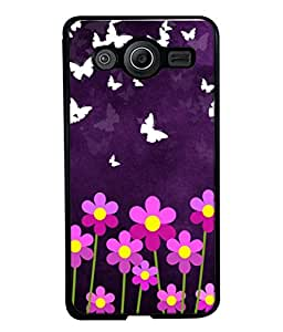 PrintVisa Designer Back Case Cover for Samsung Galaxy Core 2 G355H :: Samsung Galaxy Core Ii :: Samsung Galaxy Core 2 Dual (Flower Texture Butterfly Fly Nature Velvet)