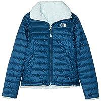 The North Face Kids TNF Chaqueta Reversible Mossbud Swirl, Niñas, Blue Wing Teal/Origin Blue, L