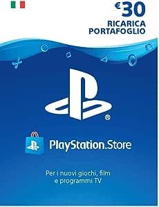PlayStation Network PSN Card 30€   Codice download per PSN - Account italiano