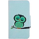 tinxi® Plastik Tasche für Samsung Galaxy S3 I9300 Schutzhülle Flipcase Schale Cover Etui Skin Eule Owl