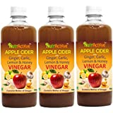 NutrActive™ Apple Cider Vinegar With Ginger, Garlic, Lemon & Honey -Pack Of 3 (500 Ml Each)