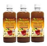 #5: NutrActive™ Apple Cider Vinegar With Ginger, Garlic, Lemon & Honey -Pack of 3 (500 ml each)
