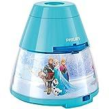 Philips Disney Frozen - Proyector y luz nocturna 2 en 1, luz blanca cálida, bombilla LED de 0,3 W, color azul
