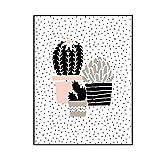 Wandbilder schlafzimmer Bloomma leinwand bild ohne Rahmen für zu Hause Moderne Dekoration Kaktus Muster (C: 40 * 50cm)