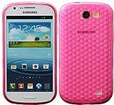 Luxburg Diamond Design funda protectora para Samsung Galaxy Express GT-i8730 en color quarzo rosa, Estuche carcasa de TPU Silikon
