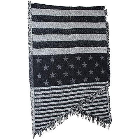 BAI-Tessuto angolata Cashmere sciarpa grande scialle le donne e gli