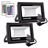 2 Packs Ustellar 60W Foco LED RGB, Novostella Proyector LED 16...