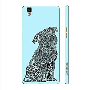 Enthopia Designer Hardshell Case Dog Tattoo 2 Back Cover for Oppo R7s
