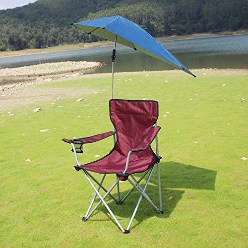 Lcxligang Klappbarer Strandkorb, klappbarer Campingstuhl, leichte Liegestühle mit verstellbarem Sonnenschutz (Color : Brown)
