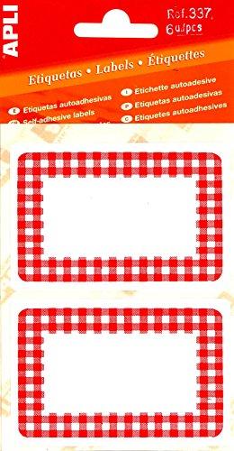 apli-pochette-de-6-etiquettes-confiture-vichy-rouge-52-x-78-mm