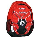 Kempa Rucksack rot mit Ballnetz Handball Volleyball 35 x 15 x 48 cm + Aufdruck Name