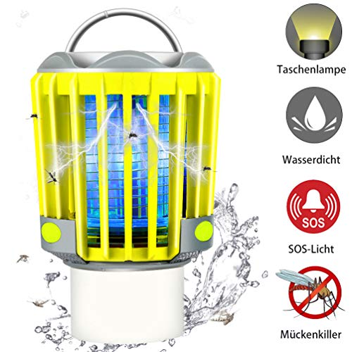 RUNACC Campinglampe LED Laterne Outdoor Wasserdicht IP66 mit 2200mAh Akku, Bug Zapper Mosquito Killer Taschelampe Mückenlampe Insektenvernichter Insektenfänger Moskitolampe -