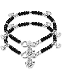 Taraash Sterling Silver Nazariya Anklets with Charm For New Baby Girls AN1016S