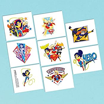 Dc Super Hero Girls Temporary Tattoos - 1 Sheet, 8 Tattoos 0