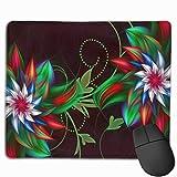Gaming Mauspad 3d Abstract Fractal Flowers Rubber Mousepad (30 x 25 cm) | Fransenfreie Ränder | Rutschfest