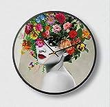 LZCHA Makeup Series Decorative Hanging Table Simple Silent Quartz Clock Round Clock 12 inch 14inch