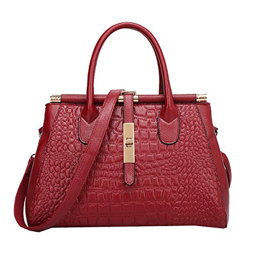 Yy.f Handtaschen Große Namen Mode Krokodilhandtaschen Leder-Umhängetasche Frau Big Bags Bunte Taschen Brown
