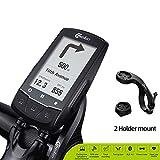 EDW Wireless GPS del calcolatore della Bicicletta in Tempo Reale di Navigazione del tachimetro, Esterna Impermeabile LCD retroilluminato Bluetooth & Ant + Codice Bike Tabella 58 Funzione