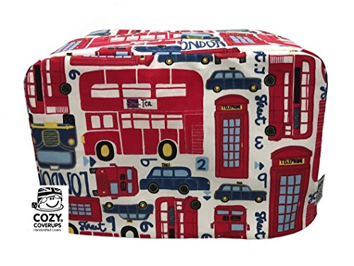cozycoverup® Staub Cover für Toaster London Bold (Dualit New Gen Classic 4Slice) (Dualit 4 Toaster Slice)