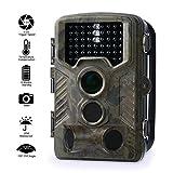 Fivanus Cámara de Caza, 12MP 1080P HD Impermeable IP56 Trail Cámara PIR Infrarrojo Sensor de Movimiento, 120°Gran Angular Visión Nocturna de Caza para Hogar Vigilancia & Caza, Monitor de Salvajes