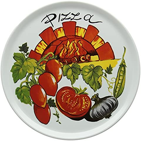 Tognana Cinzia - Plato para pizza (admite horno, forma redonda), color blanco