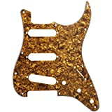 D'Andrea DPP ST GOP Pro Pickguard Strat for Electric Guitar, Gold Pearl