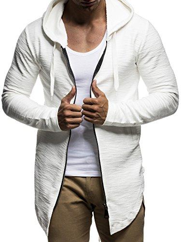 LEIF NELSON Herren Oversize Jacke Kapuzenpullover Pullover Hoodie Oversize Sweatjacke mit Kapuze Hoody LN6301 S-XXL;