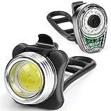 OUSPT Fahrrad LED Licht Wasserdichte USB-LED Fahrrad Licht Set Mit Wiederaufladbare 650 mAh Batterie-4 Licht Modi 2 USB-Kabel