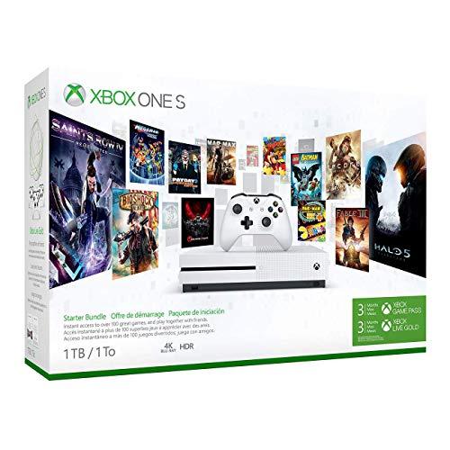 Microsoft Xbox One S 1TB Konsole - Starter Bundle - One Spiel Bundle Xbox Konsole