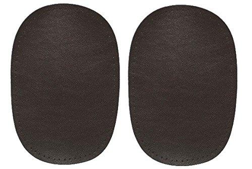 alles-meine.de GmbH 2 tlg. Set ovaler Flicken - dunkel braun Leder 10 cm * 15 cm Aufnäher zum...