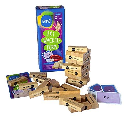 1×1-lernen-Mathematik-Spiele-Rechenspiele-Einmaleins-Spiel-Tamabi-1×1-Wackelturm-aus-Holz-1×1-spielerisch-lernen-mit-Lernspiele-ab-6-Jahre-fr-mehr-Lernspa Tamabi 1×1 Lernen: Mathematik Spiele & Rechenspiele – Einmaleins Spiel 1×1 Wackelturm aus Holz, 1×1 spielerisch Lernen mit Lernspiele ab 6 Jahre für mehr Lernspaß -