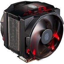 Cooler Master MasterAir Maker 8 - Ventiladores de CPU 8 Heatpipes, 2x Silencio FP PWM Ventiladores, LED rojo