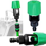 EnjoCho 1Pc Universal Mix Tap Hose Pipe Connector Adapter Garden Kitchen Bath Max Tap Width: 30mm/1.18inch Green
