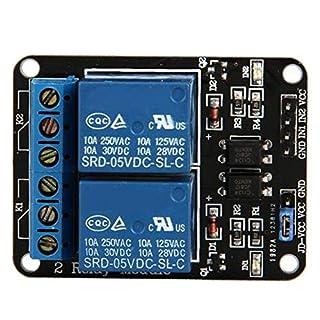 DierCosy 2-Kanal DC 5V Relaismodul für Arduino UNO R3 DSP ARM PIC AVR Raspberry Pi und Optokoppler Low-Level Trigger Expansion Board Haushalt Produkte