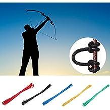 Tbest D Cuerda de Lazo Arco de Arco Compuesto Cuerda D Ballesta Cuerda de Lazo Nylon Nock Lanzamiento Seguro D Accesorios de Lazo para Entrenamiento de Caza ...