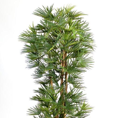 artplants Deko Steckenpalme mit 103 Blättern, DELUXE, 150 cm – Künstliche Palme/Kunstbaum