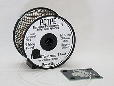 3D Prima 10376 Taulman PCTPE Filament, 1.75 mm, 0.45 kg Spool, Clear