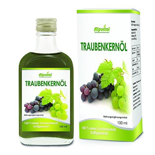 Traubenkernöl 100% rein kaltgepresst 100ml - Cholesterin Immunsystem Salat Diät