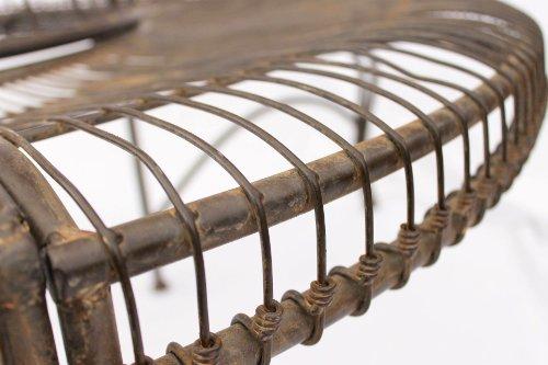 DanDiBo Rundbank aus Metall Bank JC112404 Baumbank Sitzbank Gartenbank D-150 cm H-75 cm - 3